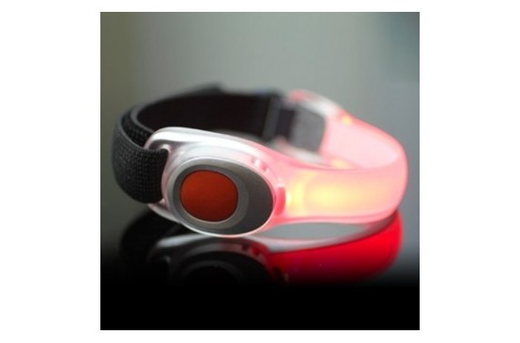 Vizibl LED safety-band Red