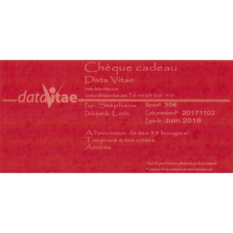 Image Chèque Cadeau gift voucher - data vitae