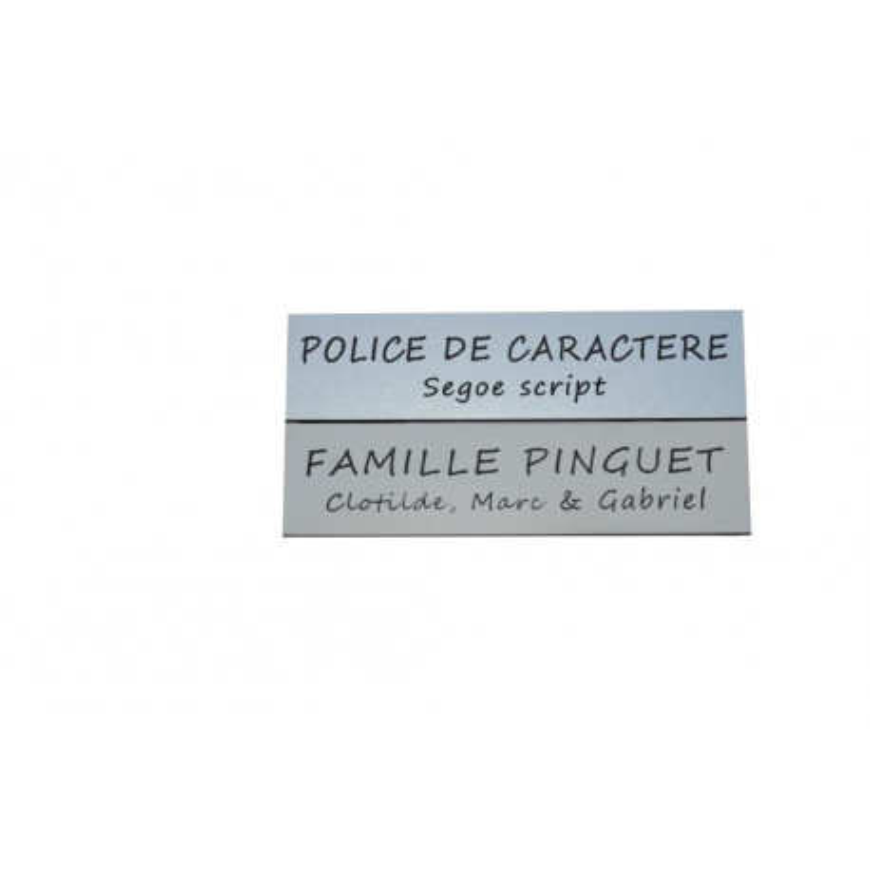 Etiquette boîte à lettres 10 cm x 2,5 cm